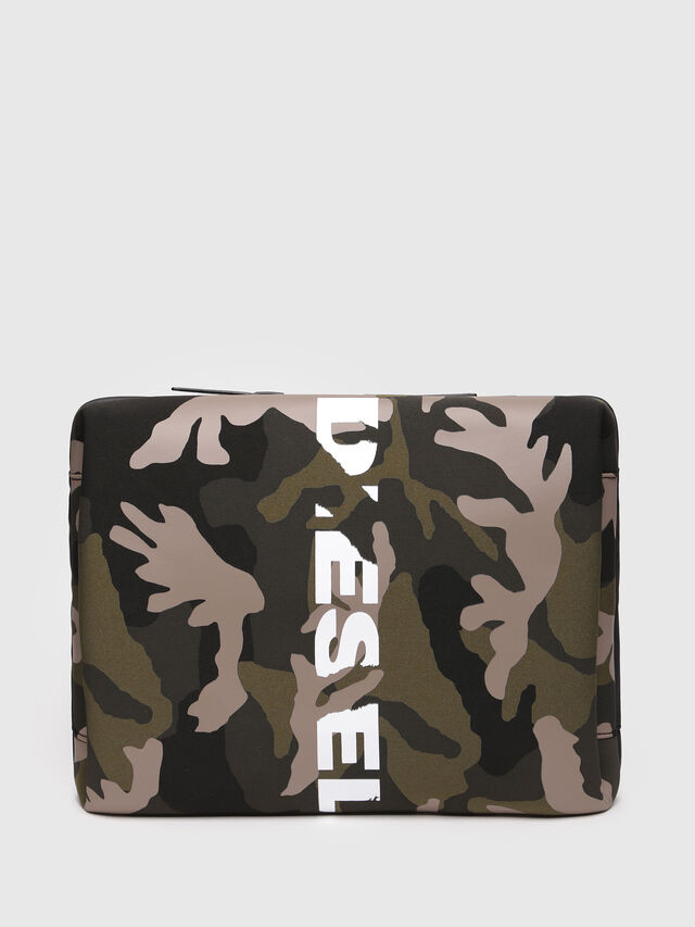 Diesel - F-SUBCAMOU CLUTCH, Green Camouflage - Clutches - Image 1