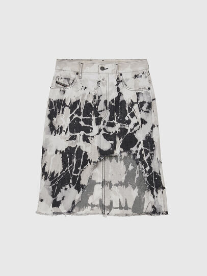 Diesel - DE-ELLYOT-SP, Black/White - Skirts - Image 1