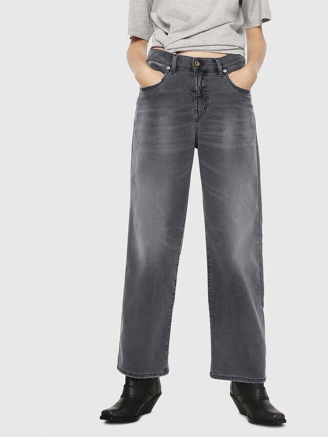 Diesel - Widee JoggJeans 069EH, Black/Dark grey - Jeans - Image 1