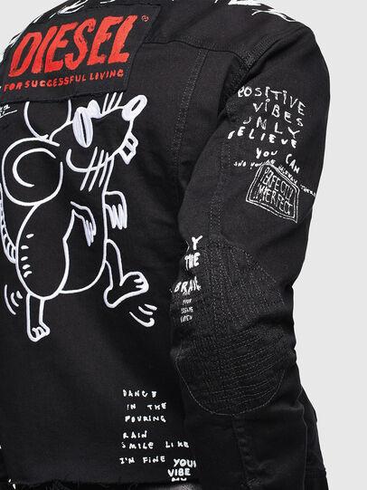 Diesel - CL-NHILL-T, Black - Denim Jackets - Image 5
