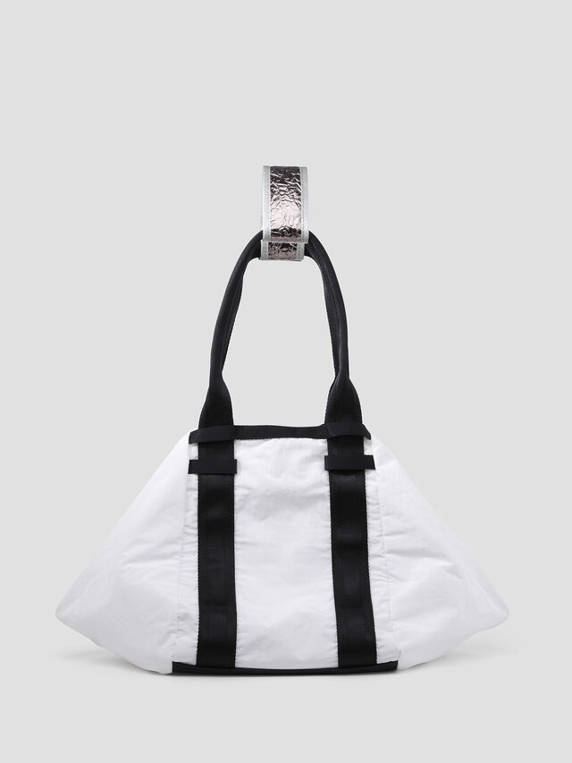 Diesel - D-CAGE SHOPPER, White/Black - Shopping and Shoulder Bags - Image 2