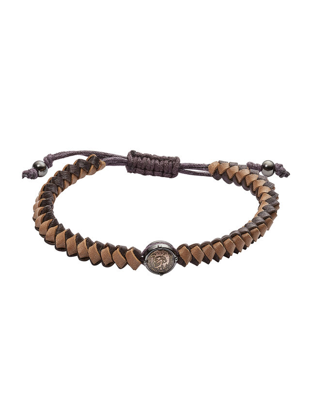 Diesel - BRACELET DX1066, Brown - Bracelets - Image 1