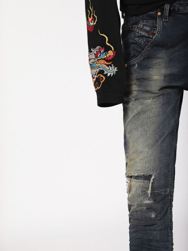 Diesel - Fayza JoggJeans 0699V, Dark Blue - Jeans - Image 6