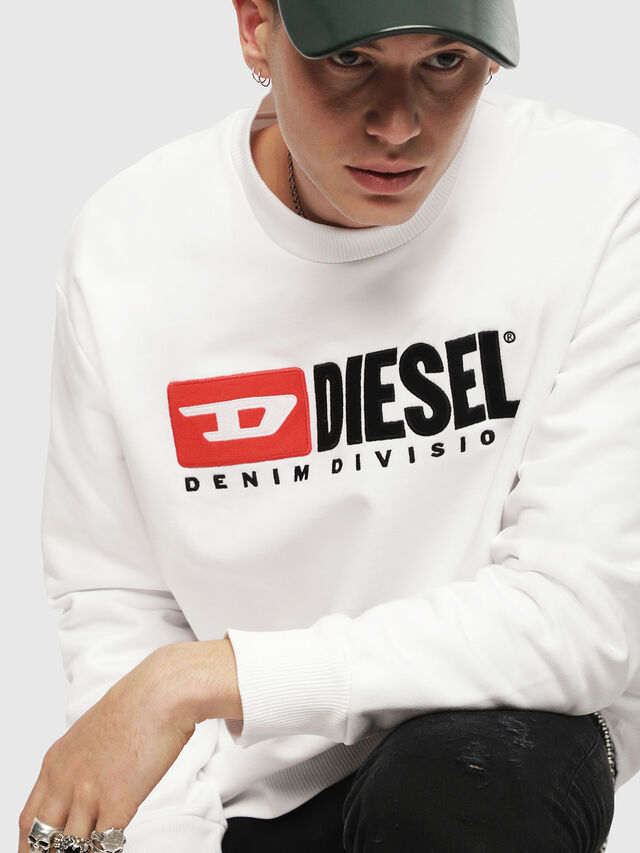 Diesel - S-CREW-DIVISION, White - Sweaters - Image 3