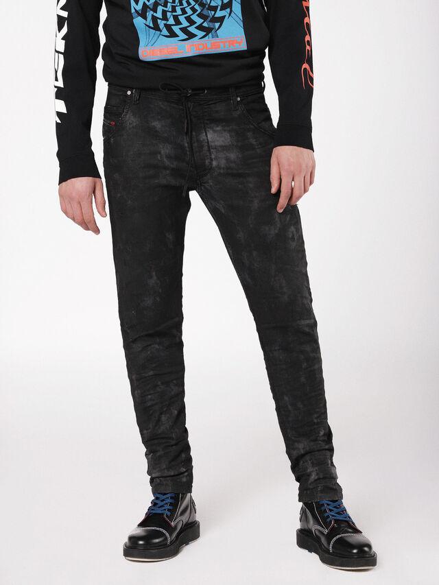 Diesel - Krooley JoggJeans 069AS, Black/Dark grey - Jeans - Image 1