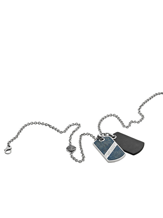 Diesel NECKLACE DX1031, Blue Jeans - Necklaces - Image 2