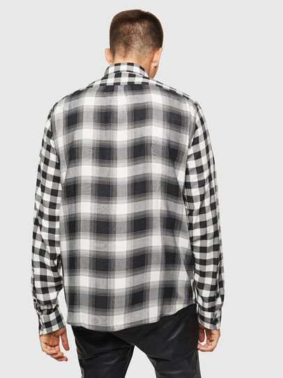 Diesel - S-VEN-CHECK, Black/White - Shirts - Image 2