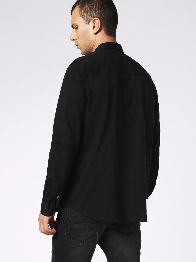 Diesel - DVL-SHIRT-MALE-RE, Black - Shirts - Image 2