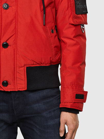 Diesel - W-JAME, Red - Winter Jackets - Image 5