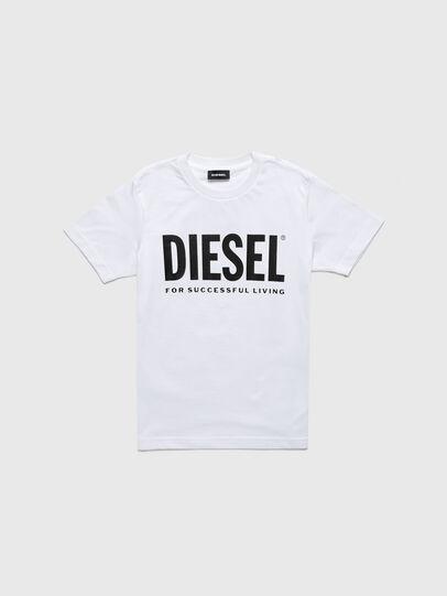 Diesel - TJUSTLOGOB-R, White - T-shirts and Tops - Image 1