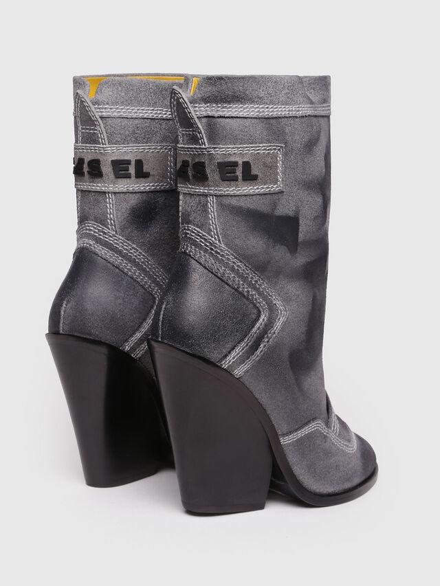 Diesel - D-FLAMINGO B, Grey Melange - Ankle Boots - Image 3
