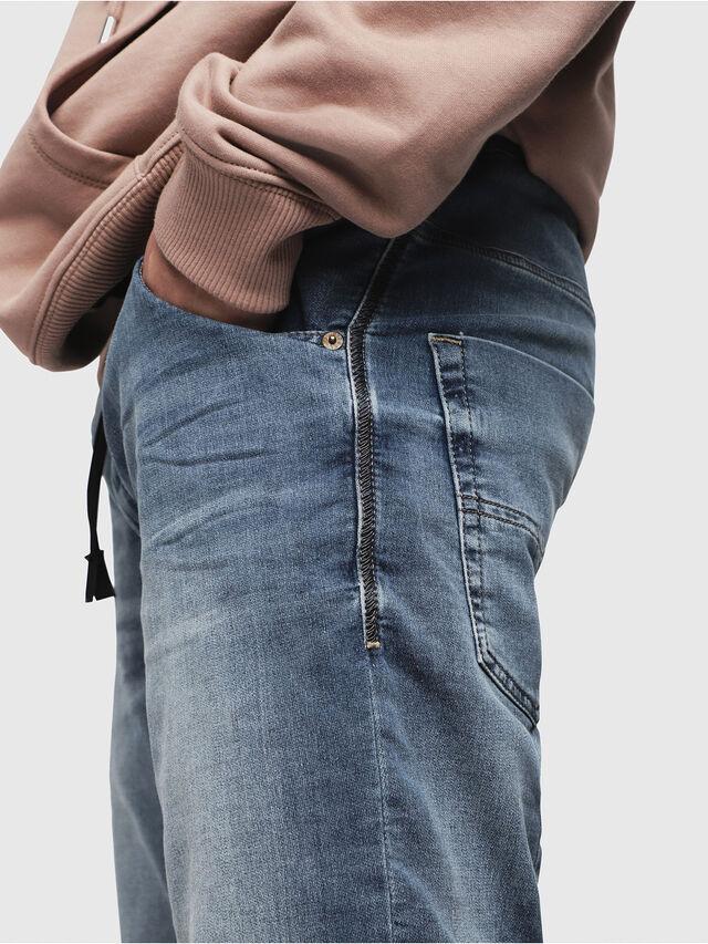 Diesel - KROOSHORT JOGGJEANS, Light Blue - Shorts - Image 3