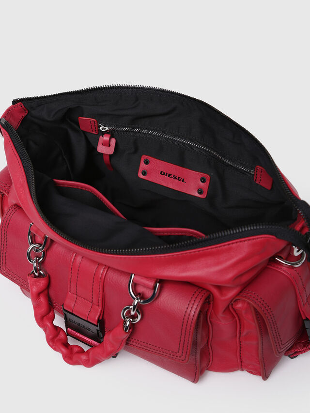 Diesel - MISS-MATCH SATCHEL M, Hot pink - Satchels and Handbags - Image 4