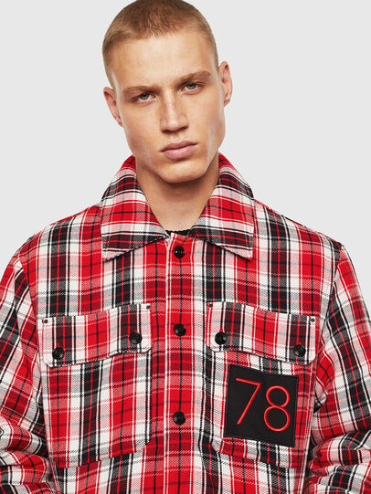 Diesel - S-JOHNS, Red/Black - Shirts - Image 5
