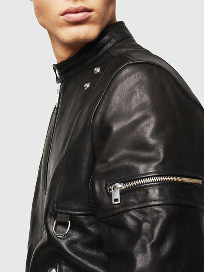 Diesel - L-TOVMAS, Black - Leather jackets - Image 6