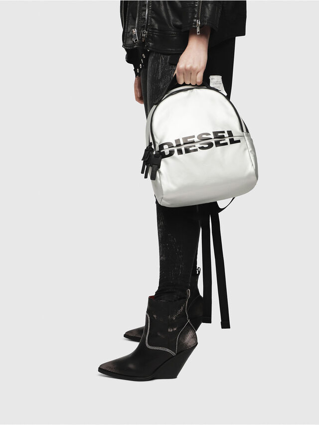 Diesel - F-BOLD BACK FL, Silver - Backpacks - Image 5