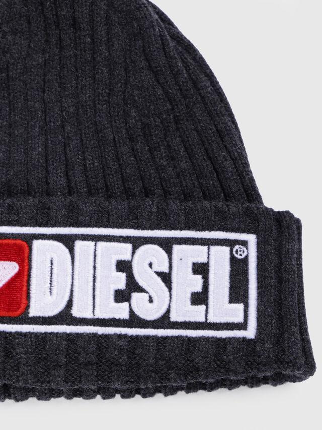 Diesel - K-CODER-B, Black - Caps, Hats and Gloves - Image 3