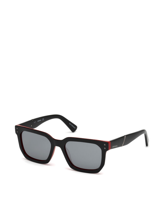Diesel - DL0253, Black/Red - Sunglasses - Image 4