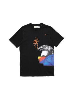 D-5055-B, Black - T-Shirts