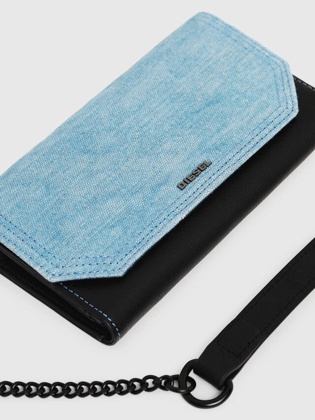 Diesel - GIPSI, Black/Blue - Small Wallets - Image 5