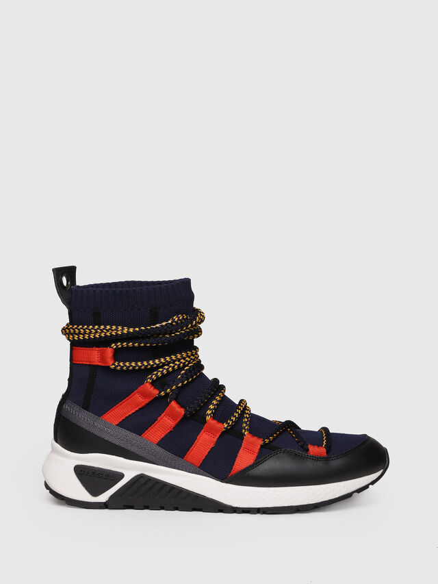 Diesel - S-KB LOOP SOCK, Black/Red - Sneakers - Image 1