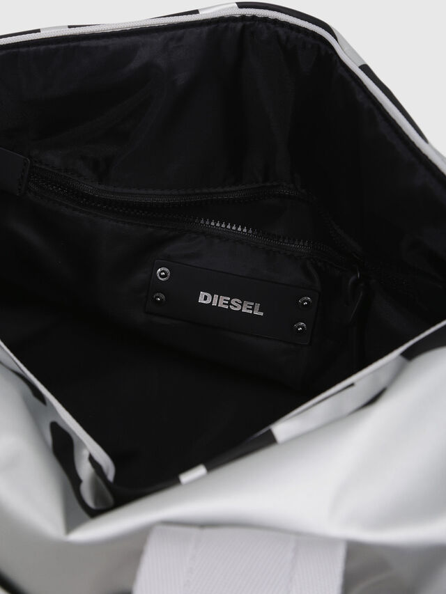 Diesel - F-BOLD DUFFLE FL, Silver - Travel Bags - Image 3
