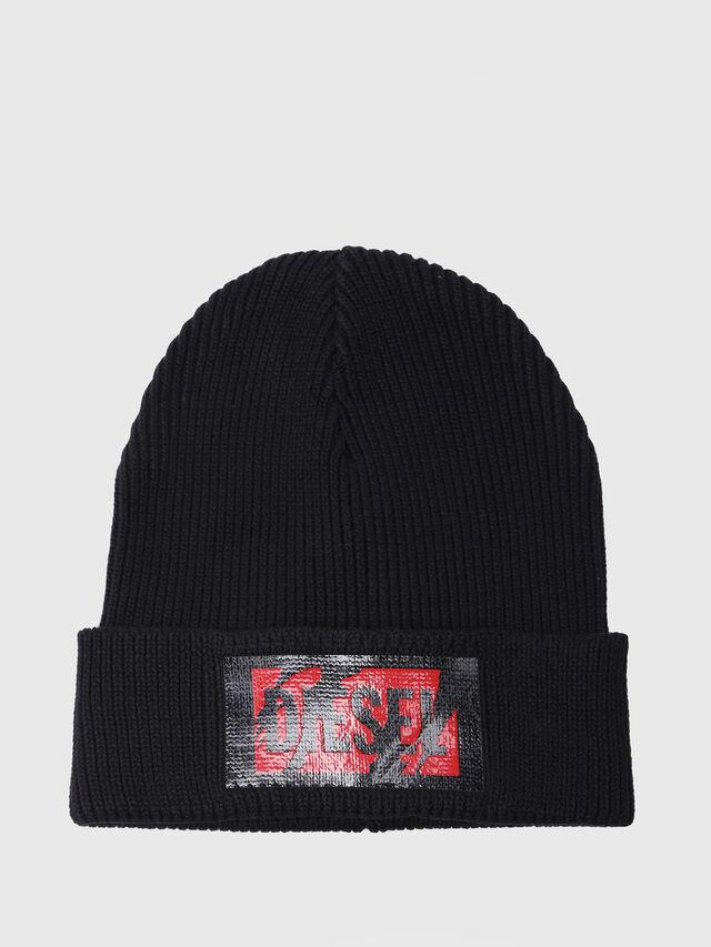 Diesel - K-LOGY, Black - Caps, Hats and Gloves - Image 1