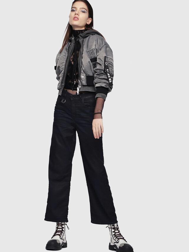 Diesel - Widee JoggJeans 0688U, Black/Dark grey - Jeans - Image 4