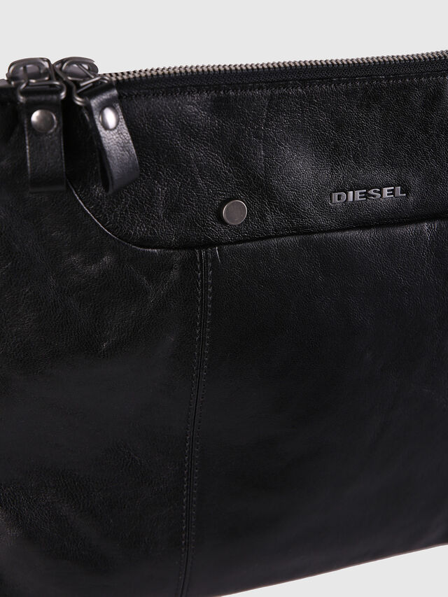 Diesel - L-L4CLUTCH, Black Leather - Clutches - Image 4