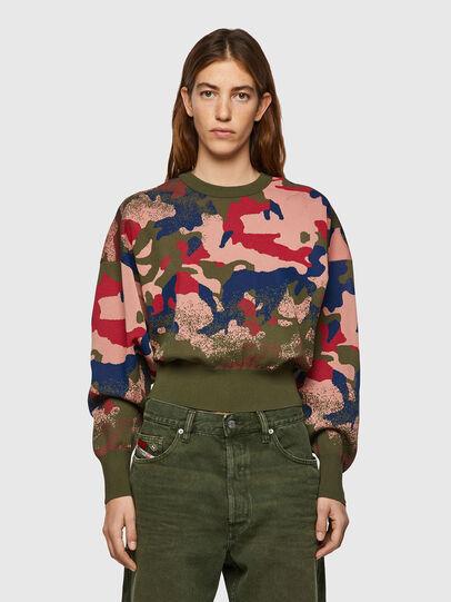 Diesel - M-MONTANA, Green/Pink - Knitwear - Image 1