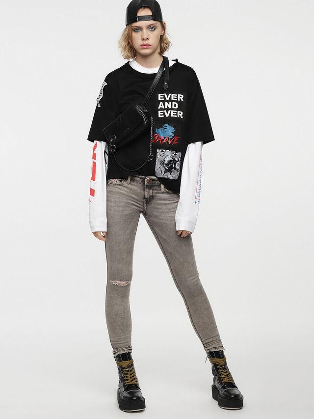 Diesel - Skinzee Low Zip 084UP, Light Grey - Jeans - Image 3