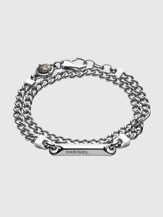 Diesel - DX1171, Silver - Bracelets - Image 1
