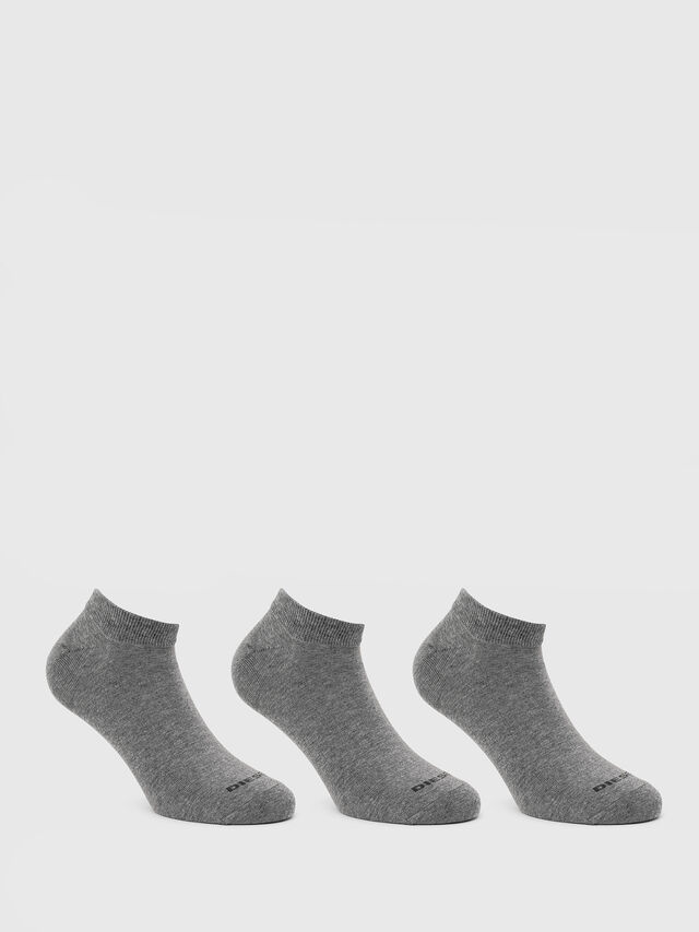 Diesel - SKM-GOST-THREEPACK, Grey - Low-cut socks - Image 1