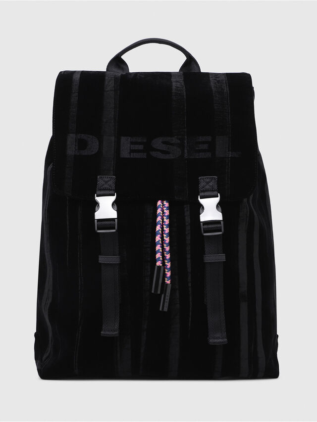 Diesel - F-MUSILE BACKPACK, Black - Backpacks - Image 1