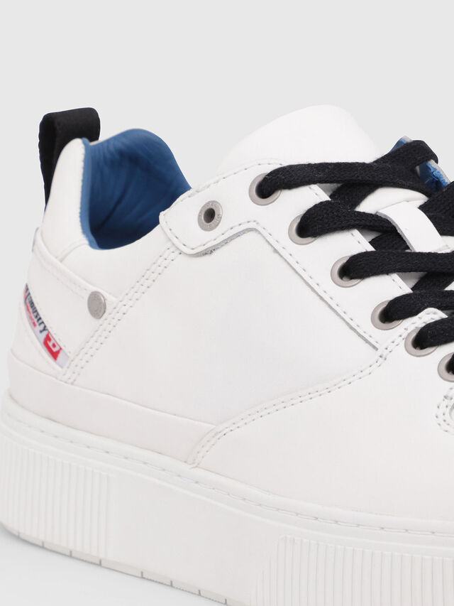Diesel - S-DANNY LC, White/Blue - Sneakers - Image 4