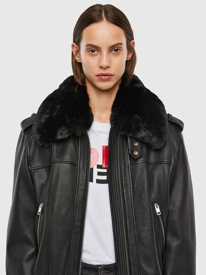Diesel - L-LIV, Black - Leather jackets - Image 3