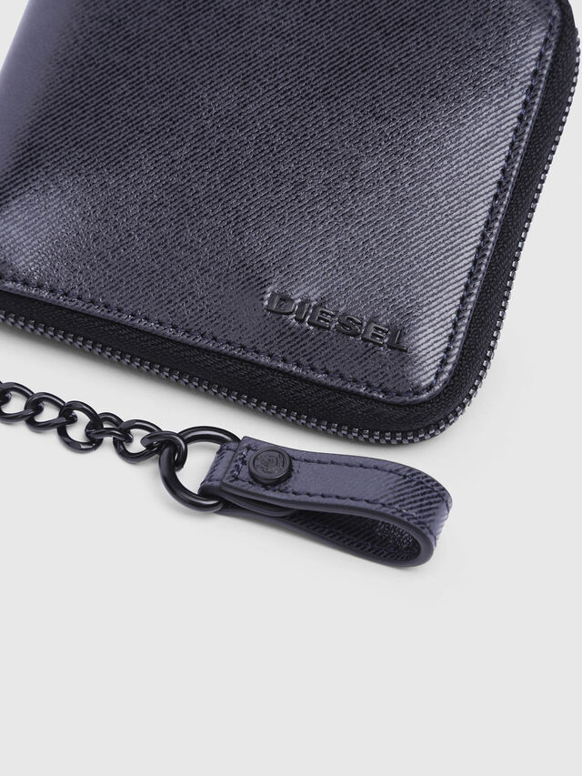 Diesel - ZIPPY HIRESH S WITH, Indigo - Zip-Round Wallets - Image 3