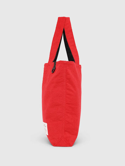 Diesel - F-THISBAG SHOPPER NS, Fire Red - Shopping and Shoulder Bags - Image 3
