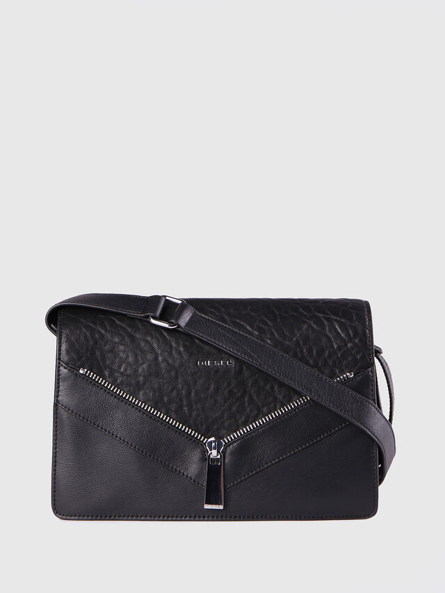 Diesel - LE-MISHA, Black Leather - Crossbody Bags - Image 1
