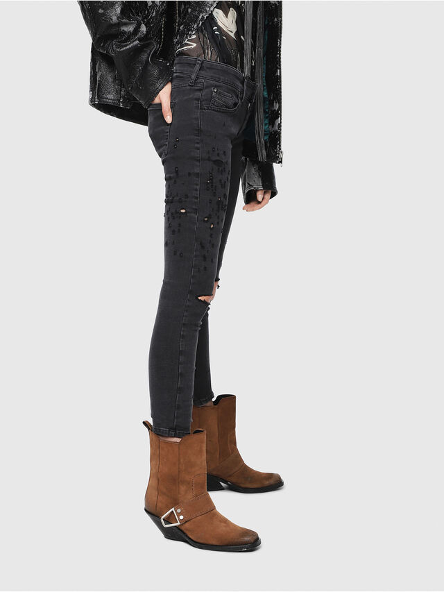 Diesel - Slandy Low 085AW, Black/Dark grey - Jeans - Image 3