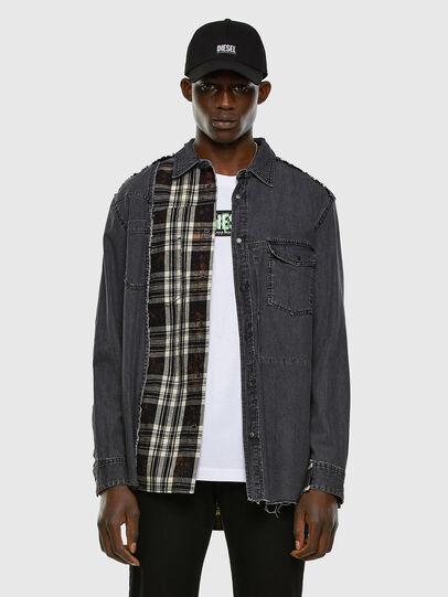 Diesel - D-FINLY, Dark grey - Denim Shirts - Image 5