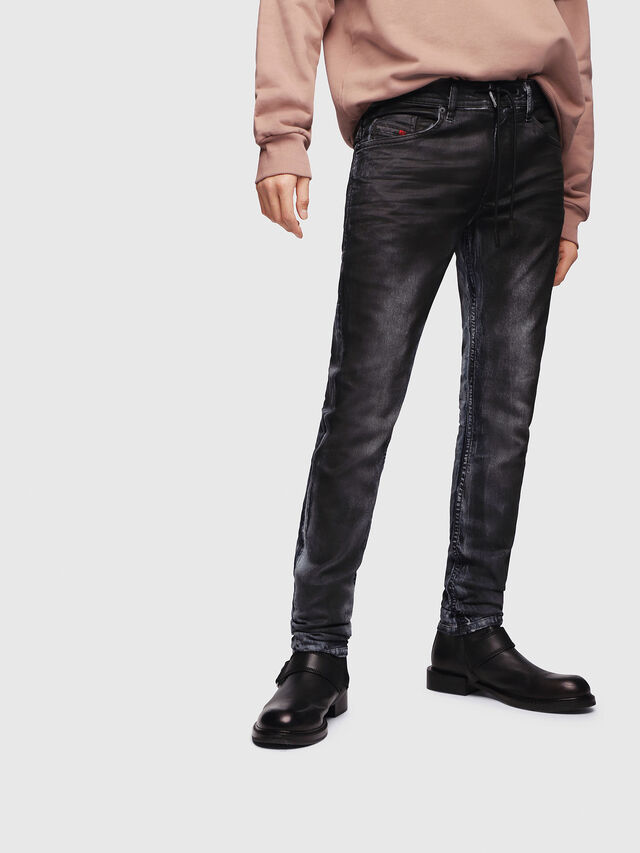 Diesel - Thommer JoggJeans 086AZ, Black/Dark grey - Jeans - Image 1