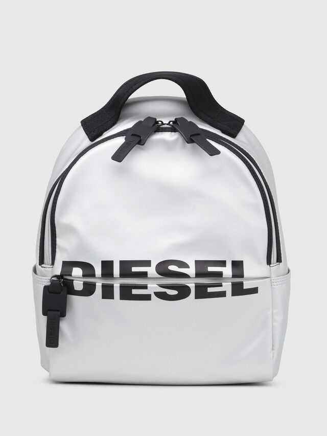 Diesel - F-BOLD BACK FL, Silver - Backpacks - Image 1