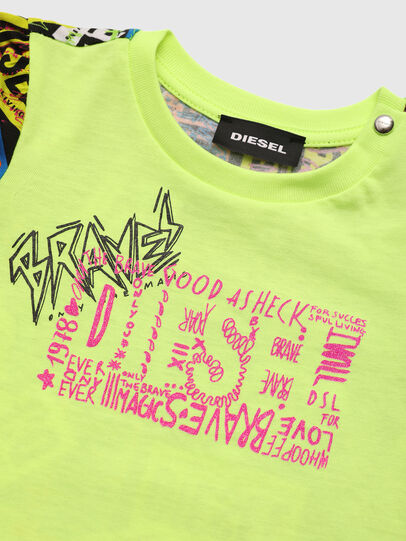 Diesel - TAIRB, Green Fluo - T-shirts and Tops - Image 3