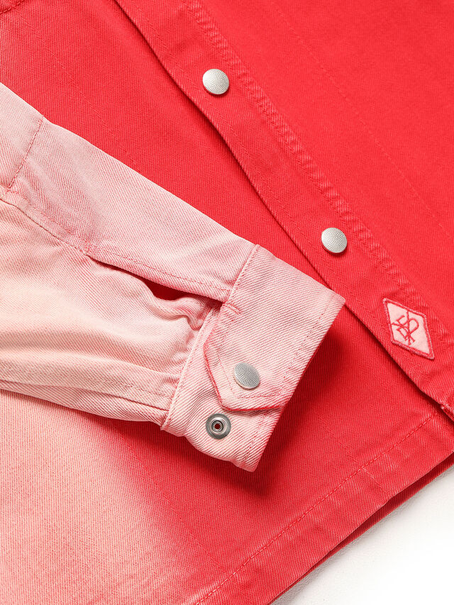 Diesel - GR02-B301, Red/White - Denim Shirts - Image 4