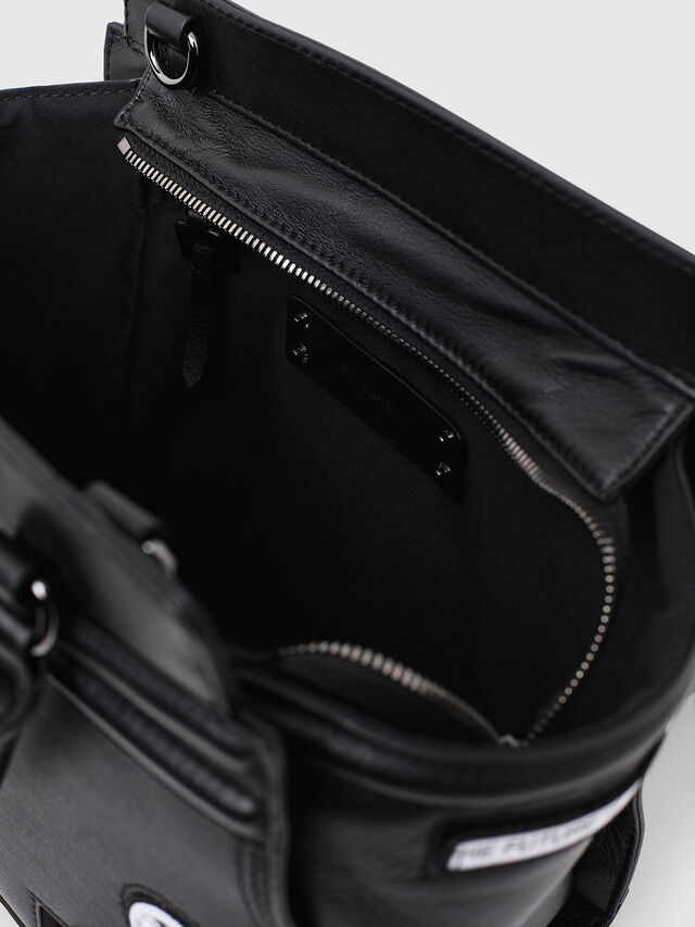 Diesel - LE-ZIPPER SATCHEL S, Black - Shopping and Shoulder Bags - Image 4