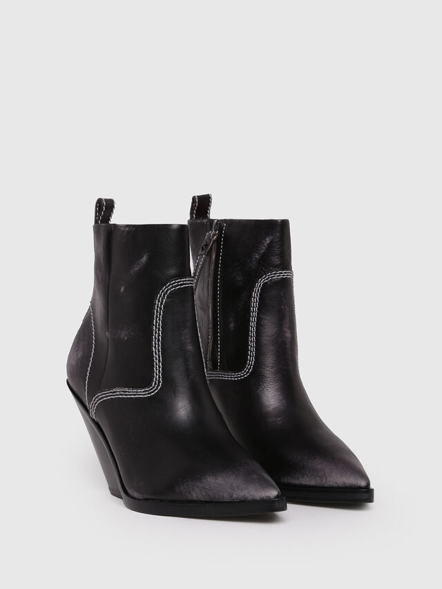 Diesel - D-WEST AB, Black - Ankle Boots - Image 2