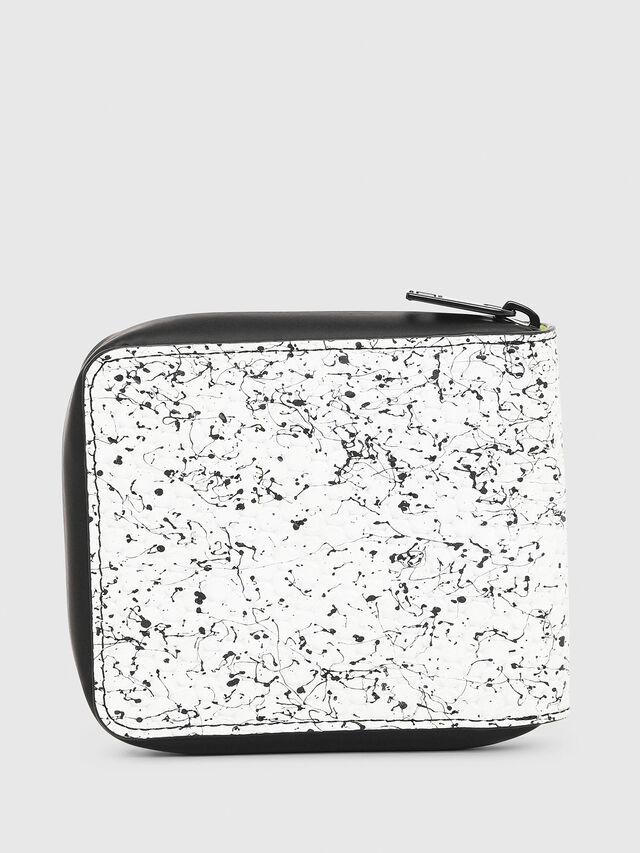 Diesel - ZIPPY HIRESH S, White/Black - Zip-Round Wallets - Image 2