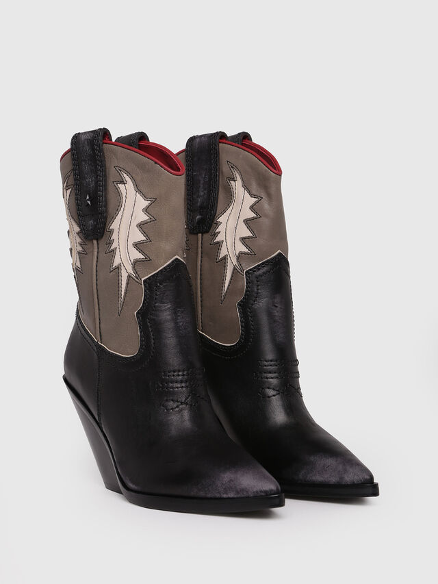 Diesel - D-WEST B, Black/Brown - Ankle Boots - Image 2