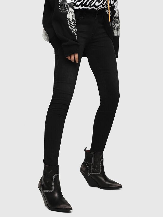 Diesel - Slandy Low 069BU, Black/Dark grey - Jeans - Image 1
